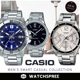 *APPLY 25% OFF COUPON* *CASIO GENUINE* CASIO Mens Smart Casual Watches. Free Shipping!
