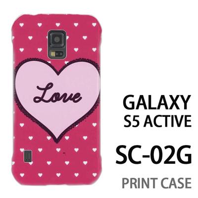 GALAXY S5 Active SC-02G 用『0117 ラブハート ピンク』特殊印刷ケース【 galaxy s5 active SC-02G sc02g SC02G galaxys5 ギャラクシー ギャラクシーs5 アクティブ docomo ケース プリント カバー スマホケース スマホカバー】の画像