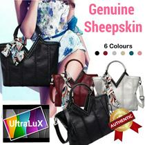 NEW LAUNCH THE V BAG❤️Genuine Sheepskin Leather Ladies Bag❤️Soft and Smooth Women Handbag Totebag Makeup Bag Messenger Shoulder Sling Tote Clutch Working Office Dress Up OL Lady 3 Colours