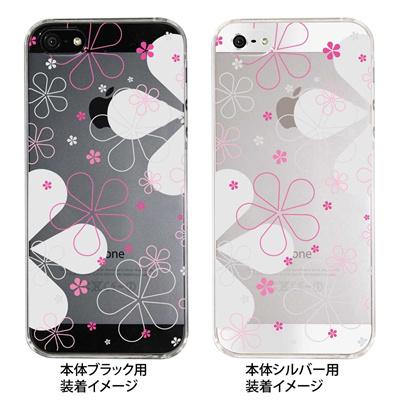 【iPhone5S】【iPhone5】【Clear Fashion】【iPhone5ケース】【カバー】【スマホケース】【クリアケース】【フラワー】 22-ip5-ca0046の画像
