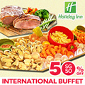 [Holiday Inn] SG50 Special 50% off International Buffet at Window On The Park Orchard. Lunch and Dinner buffet featuring fresh seafood and appetising local favourites