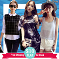 [1 AUG New Arrivals] FLAT PRICE $10 Womens Dress Tops Blouse Shirts (Free Shipping)