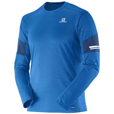 サロモン(SALOMON) アジャイルロングスリーブティー(AGILE LS TEE) M's Union Blue L37115500 【アウトドアウェア スポーツウエア メンズ 長袖 トレーニング】の画像