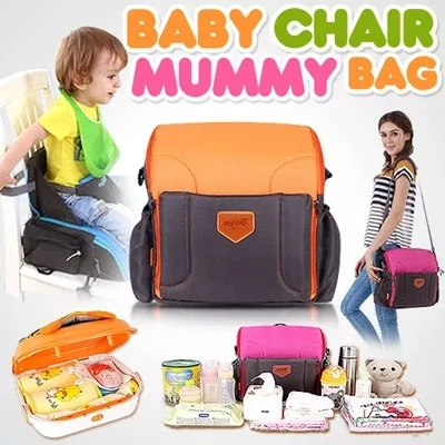 MULTI-FUNCTION!LARGE CAPACITY!Baby Dining Chair Bag/Nursery Bag/Safety Baby Chair Bag/Kids Breakfast Lunch Dinner Chair/Children Seat/6 Month+ Deals for only S$100 instead of S$0