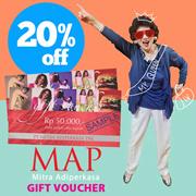 [가정의 달 어버이날 행사] MAP Rp.100.000 Gift 상품권 20% 파격세일!
