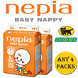 [nepia][Any 4 Packs Bundle] BABY NAPPY Diapers (Tape Type F)