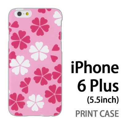 iPhone6 Plus (5.5インチ) 用『0904 落ち花 白ピンク』特殊印刷ケース【 iphone6 plus iphone アイフォン アイフォン6 プラス au docomo softbank Apple ケース プリント カバー スマホケース スマホカバー 】の画像