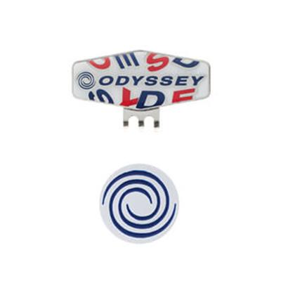 オデッセイ (ODYSSEY) Strew Marker15JM(ストゥルーマーカー)ホワイト×ネイビー 5915155 [分類:ゴルフ マーカー]の画像