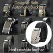 NEW Mens Automatic Buckle Genuine Belt/ Business Black Belts/ Cowhide Leather Waist Strap/