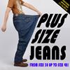 Mens Plus size Demin Jeans Pants Straight Comfortable Cut Supersizes trousers men long pants baggy loose fit cotton Slacks
