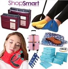 Travel Organizer Bag In Bag [ShopSmart] Travel Essentials Organiser Accessories Luggage|Pillow