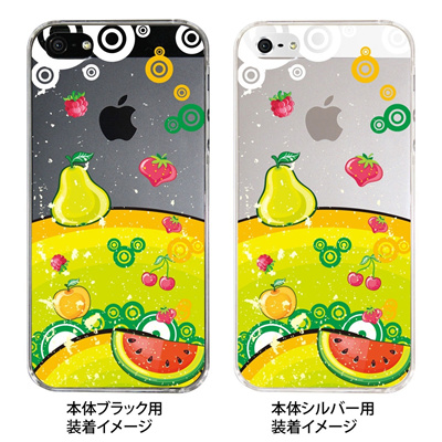 【iPhone5S】【iPhone5】【Clear Fashion】【iPhone5ケース】【カバー】【スマホケース】【クリアケース】【フルーツ】 ip5-21-ca0001の画像