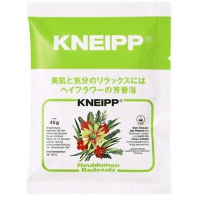 クナイプ KNEIPP バスソルト ヘイフラワーの香り 40gクナイプ/KNEIPP/バスソルト/芳香浴/入浴剤/岩塩/精油/ハーブ/ヘイフラワー/40gの画像