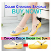 [Singapore Seller] Good Quality Color Changing Women Casual Jelly Hole sandals/ Slippers/ shoes