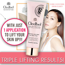 FREE SHIPPING!!◉ INSTANT LIFTING ◉ Cledbel Miracle Lifting Mask - Used by Celebs in Korea! ★ PEEL OFF For Elastic Glowing Complexion in Just 15 Mins | NO SURGERY SOLUTION!