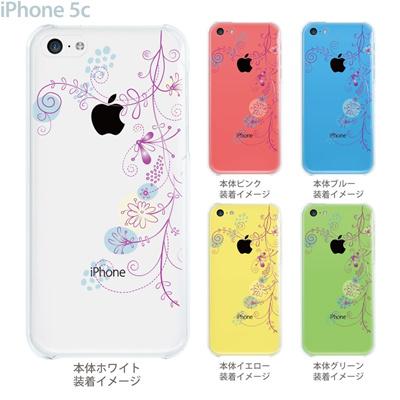 【iPhone5c】【iPhone5cケース】【iPhone5cカバー】【ケース】【カバー】【スマホケース】【クリアケース】【フラワー】 22-ip5c-ca0027の画像