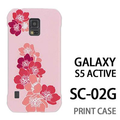 GALAXY S5 Active SC-02G 用『0117 舞い落ちる花 ピンク』特殊印刷ケース【 galaxy s5 active SC-02G sc02g SC02G galaxys5 ギャラクシー ギャラクシーs5 アクティブ docomo ケース プリント カバー スマホケース スマホカバー】の画像