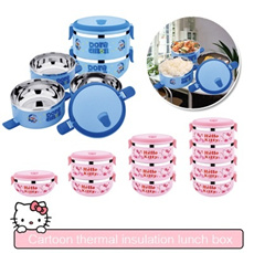 ▶2015 New version Cartoon Thermal Insulation Lunch Box◀GDA GFA-Hello Kitty*Doraemon*Snoopy*Spongebob Cute Design/ Multilayer design can separate the food