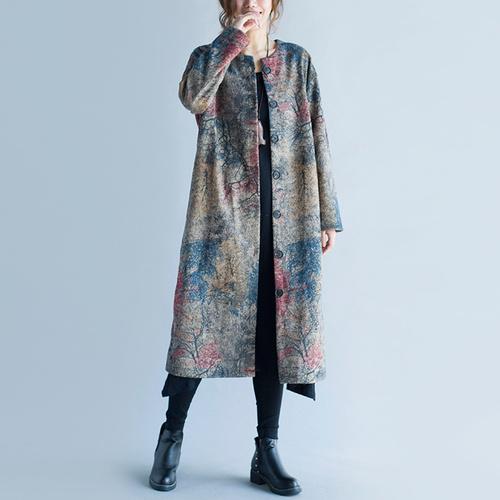 Qoo10韓国ファッション★プレミアムネオプレンロングジャケット★裏地配色でおしゃれな演出可能なジャケットでゆたりとしたサイズで着やすいです