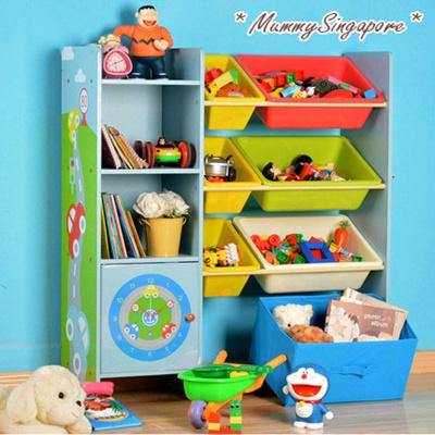 Qoo10 toy storage shelf book shelf kids toys storage for Toy and book storage