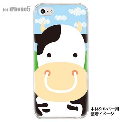 【iPhone5S】【iPhone5】【Clear Arts】【iPhone5ケース】【カバー】【スマホケース】【クリアケース】【アニマル】【ウシ】 10-ip5-animal-10の画像