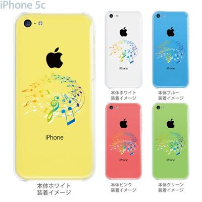 【iPhone5c】【iPhone5c ケース】【iPhone5c カバー】【ケース】【カバー】【スマホケース】【クリアケース】【ミュージック】【音符】 09-ip5c-mu0005の画像