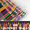 〓送料無料〓■デラックス色鉛筆 100本■自塗り絵やスケッチなどに♪