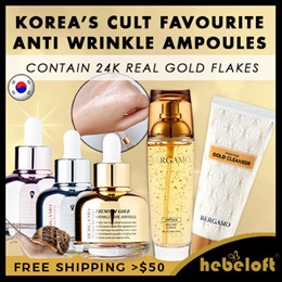 [BERGAMO]  ◆ QOO10 SPECIAL PROMO ◆  🌟 Anti-Wrinkle Ampoule Series  + 🌟 GOLD CLEANSER AND ESSENCE