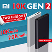 🌟100% Authentic Xiaomi🌟10000mAh / 10000mAh PRO / 20000mAh🌟Big Capacity Powerbank Fast Charger !