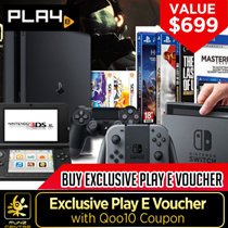 Purchase PLAY-E Voucher $699 !Redeem Our Products, Nintendo Switch, PS4 Pro Consoles,Games, Figurines and More from Any PLAY-E Official Store!l