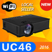 **HAPPY NEW YEAR**[UC46 Projector]2016 Newest UNIC UC46 Wireless WIFI Portable Home Projector Laptop PC Wireless Handheld Mini Led Projector