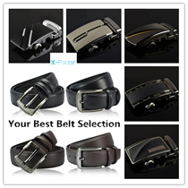 NEW Mens Automatic Buckle Genuine Belt/ Business Black Belts/ Cowhide Leather Waist Strap/Birthday Christmas Gift