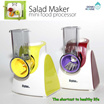 [Stylux] Salad Maker / Mini Food processor /  Free 5 blades (including French Fries blade)