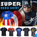 ★BUY 2 FREE SHIPPING★Superhero Quick Dry Fitness Costume Captain America/Spiderman/Winter Soldier/Iron man/Dead pool OutDoor Sports Gym Men Short/Long Sleeve t Shirts Bicycle Tees Cycling Jersey Tops