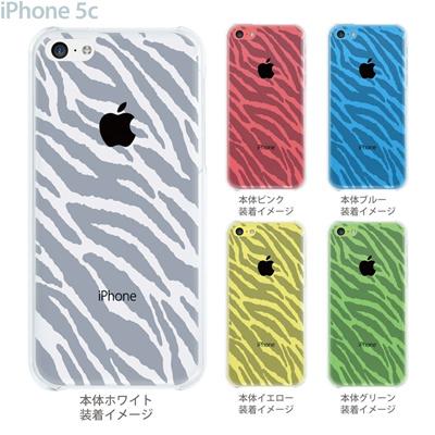 【iPhone5c】【iPhone5cケース】【iPhone5cカバー】【iPhone ケース】【クリア カバー】【スマホケース】【クリアケース】【アニマル】【ゼブラ柄】 22-ip5c-ca0034の画像