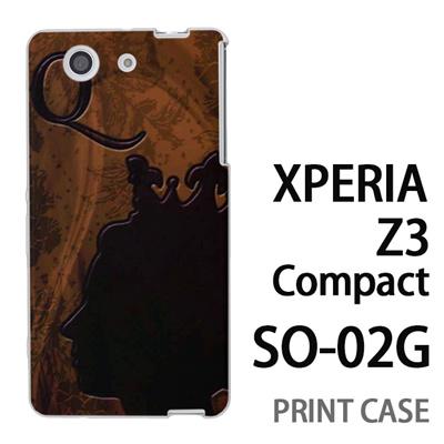 XPERIA Z3 Compact SO-02G 用『No1 Q 女王のレリーフ』特殊印刷ケース【 xperia z3 compact so-02g so02g SO02G xperiaz3 エクスペリア エクスペリアz3 コンパクト docomo ケース プリント カバー スマホケース スマホカバー】の画像