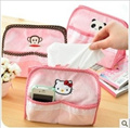 [One Space] New year Sale Hello kitty Tissue Box Cover Storage/ Rilakkuma/ monkey/ panda /cartoons /  cosmetic pouch / storage bag