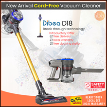 [▼-59%] SAME DAY DELIVERY | Dibea D18 Cordless Vacuum Cleaner Handheld Stick