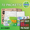 [RB] 【72 PACKS CARTON DEAL!】Dettol – Antibacterial pH-Balanced Disinfectant and Germicidal Wet Wipes