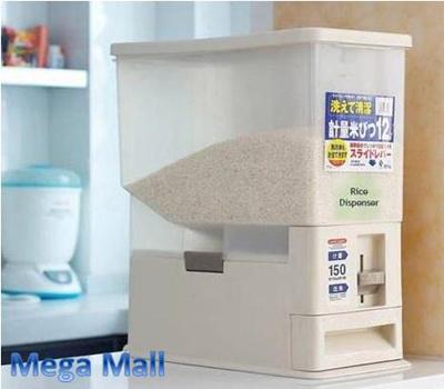 Elegant Rice Container Box? Rice Storage Dispenser Container Food