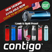 [OutdoorBrands]Contigo Christmas Xmas Sale - Spill Proof Water Bottle - MADISON|GRACE|CORTLAND|ASHLAND ★ BPA Free ★ Easy ONE HAND Operation|Leak Proof ★ Great for Gym|Travel|Car|Office|Outdoor ★