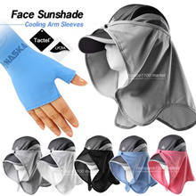 ★Made in Korea★face sun shade summer fishing block UV Protection cap attached hat clothes outdoors