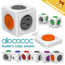 Convenient Travel▶Smart Power Cube Socket◀GDC-Allocacoc/Power Socket/Charger/Portable/USB charge/For Different County/Fast Charge/Enjoy Your Travel/US Standard