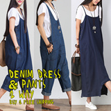 One day Sale!2015 2 way Denim dress and pants BUY 2 FREE SHIPPING