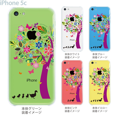 【iPhone5cケース】【iPhone5cカバー】【スマホケース】【クリア】【iPhone ケース】【クリアケース】【イラスト】【クリアーアーツ】【花とアヒル】 22-ip5c-ca0075の画像