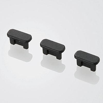 エレコムスマートフォン用microBコネクタキャップセットP-CAAMBBK