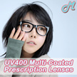 Only $14.80 for A Pair of Multi-Coated Prescription Lens (FREE Anti-EMI Coating worth $30).
