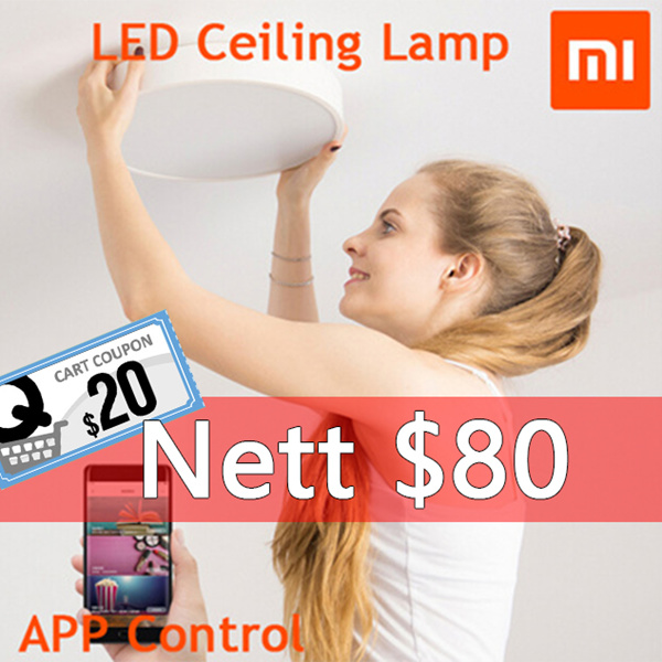 [ Authentic ]XIAOMI Yeelight Intelligent LED Ceiling Lamp/Night Light / APP Control/ children vision Deals for only S$149 instead of S$0