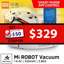 Xiaomi Mi Robot Vacuum Cleaner ★ 1800 Pa ★ 5200 mAh Li-ion battery ★ 2.5 hours of charging ★