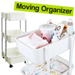 ◆General Purpose Moving Organizer◆ laundry basket / CNY/New Year/diapers storage stand/wheel movable